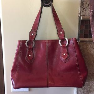 Real Red Leather Fossil 1954 Ladies Hand bag